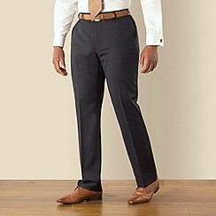 Centaur Big & Tall - Navy narrow stripe plain front regular fit suit trouser