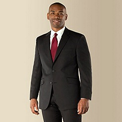 Centaur Big & Tall - Black narrow stripe 2 button regular fit suit
