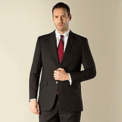 Karl Jackson - Grey stripe 2 button regular fit suit