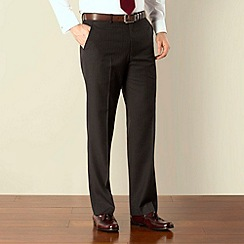 Karl Jackson - Grey stripe plain front regular fit suit trouser