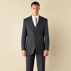 Karl Jackson - Blue pick and pick 2 button regular fit suit jacket