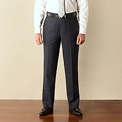 Karl Jackson - Blue pick and pick plain front regular fit suit trouser