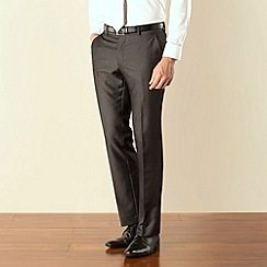 Karl Jackson - Charcoal textured stripe plain front regular fit suit trouser