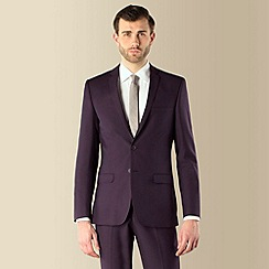 Red Herring - Purple plain weave 2 button slim fit suit