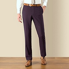 Red Herring - Purple plain weave slim fit suit trouser