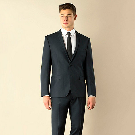 Red Herring - Dark teal tonic 2 button super slim fit suit jacket