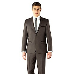 Red Herring - Charcoal semi plain 2 button slim fit suit jacket