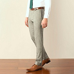 Red Herring - Grey donegal look super slim fit suit trouser