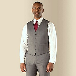 Centaur Big & Tall - Grey sharkskin 5 button regular fit suit waistcoat