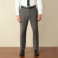 Ben Sherman - Grey plain weave skinny camden fit suit trouser