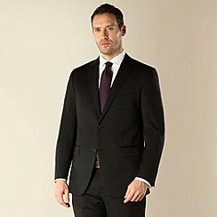 Jeff Banks - Black stripe 2 button regular fit suit