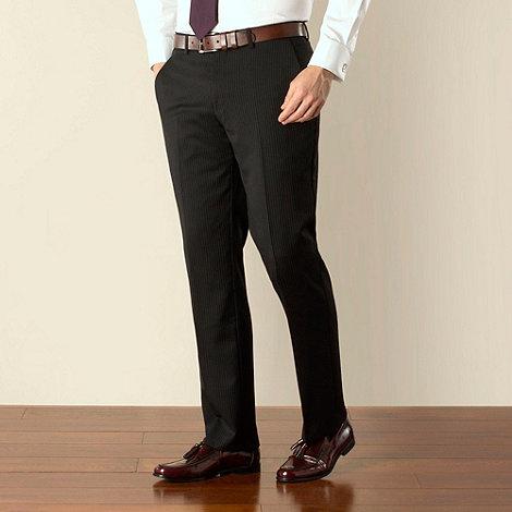 Jeff Banks - Black stripe plain front regular fit suit trouser