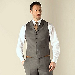 Jeff Banks - Grey pick and pick 6 button regular fit suit waistcoat
