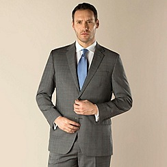 Jeff Banks - Grey check 2 button regular fit suit