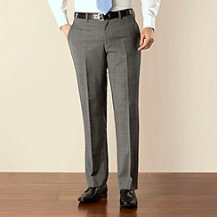 Jeff Banks - Grey check plain front regular fit suit trouser