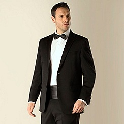 Jeff Banks - Black dresswear 2 button regular fit suit