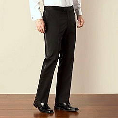 Jeff Banks - Black dresswear plain front regular fit suit trouser