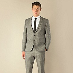 BEN SHERMAN - Grey donegal 2 button camden skinny fit suit jacket