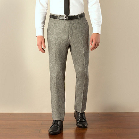 Ben Sherman - Grey donegal camden skinny fit suit trouser
