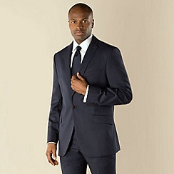 Stvdio by Jeff Banks - Blue twill 1 button tailored fit suit