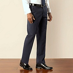 Stvdio by Jeff Banks - Blue twill plain front tailored fit suit trouser