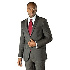 Stvdio by Jeff Banks - Charcoal pindot 2 button tailored fit suit