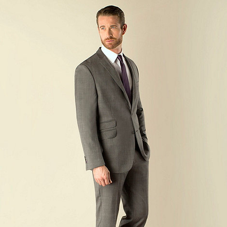 Stvdio by Jeff Banks - Grey check 2 button tailored fit suit jacket