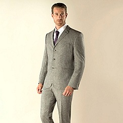Stvdio by Jeff Banks - Grey donegal 3 button modern fit two piece suit