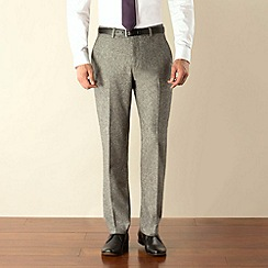Stvdio by Jeff Banks - Grey donegal plain front modern fit suit trouser