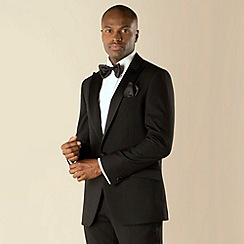 Stvdio by Jeff Banks - Black dresswear 1 button tailored fit suit