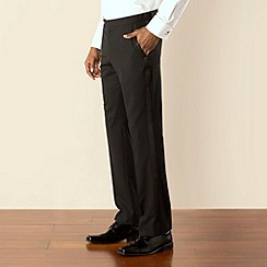Stvdio by Jeff Banks - Black dresswear plain front tailored fit suit trouser