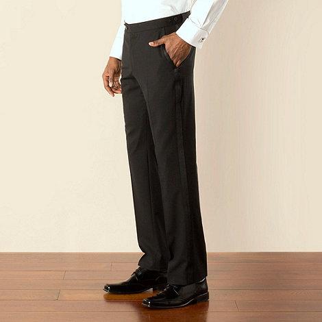 Stvdio by Jeff Banks - Black dresswear plain front tailored fit suit trouser