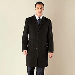 Karl Jackson - Charcoal plain 3 button regular fit coat