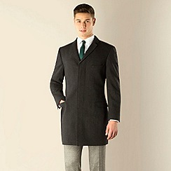 Red Herring - Charcoal donegal look 3 button slim fit coat