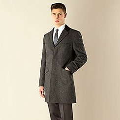 Ben Sherman - Charcoal donegal look 3 button kings slim fit coat