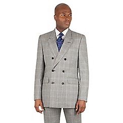 Hammond & Co. by Patrick Grant - Grey prince of wales check tailored fit double breasted jacket