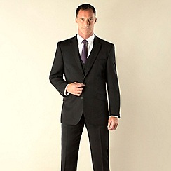 J by Jasper Conran - Black twill 2 button tailored fit suit