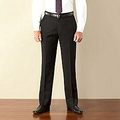 J by Jasper Conran - Black twill tailored fit trouser