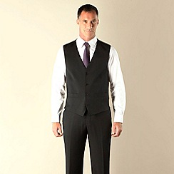 J by Jasper Conran - Black twill tailored fit 4 button waistcoat