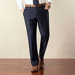 J by Jasper Conran - Dark blue sharkskin tailored fit trouser