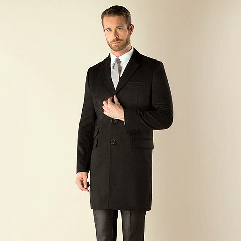 J by Jasper Conran - Black melton 3 button coat