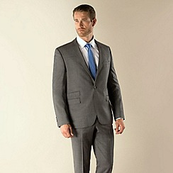 Stvdio by Jeff Banks - Grey check 1 button modern fit suit jacket