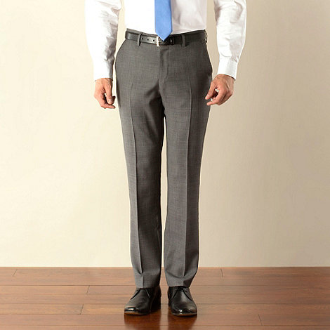 Stvdio by Jeff Banks - Grey check plain front modern fit suit trouser