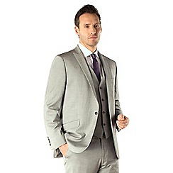 J by Jasper Conran - Silver tonic tailored fit 1 button two piece suit