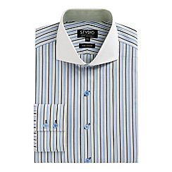 Stvdio by Jeff Banks - Blue jerba stripe shirt