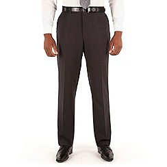 Karl Jackson - Grey stripe plain front big&tall regular fit suit trouser