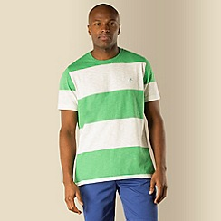 Racing Green - Singers stripe slub tee