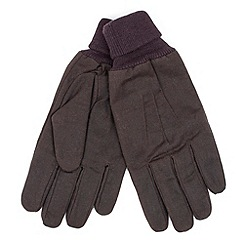 Racing Green - Foxley wax fabric gloves