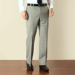 Racing Green - Light grey regular fit trousers