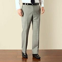 Racing Green - Light grey regular fit trousers